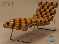 3d dxf chaise longue