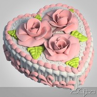 maya heart shaped cake
