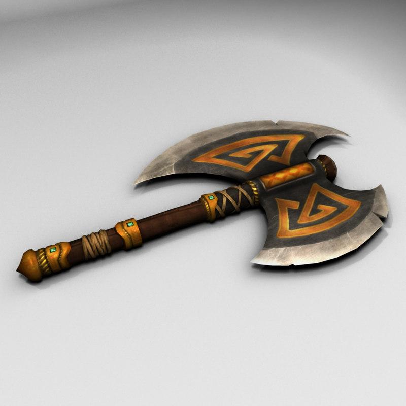 obj short battle axe
