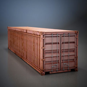 shipping old container 3d model