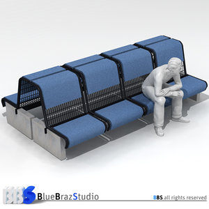 airport seat 3d model