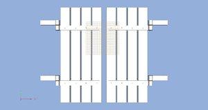 shutters hinges 3d model