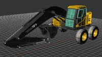 excavator 3d 3dm