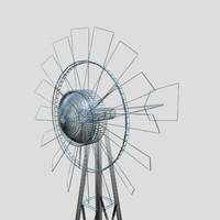 windmill farms 3d max