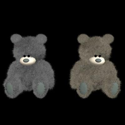 plush teddy bear 3d max
