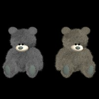 plush teddy bear 3d max