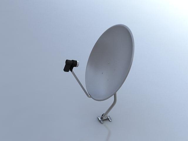 satellite dish 3d max