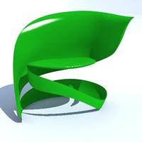 unibody chair design modern 3d 3ds