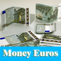 3d 5 euros banknote -