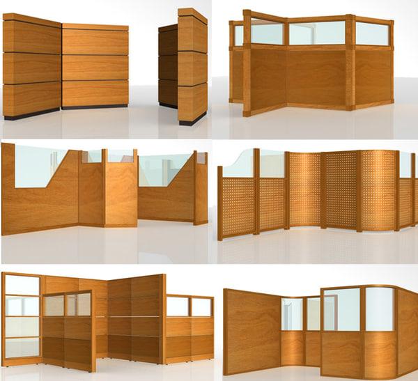 7 partitions 3d model