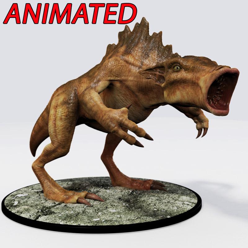 3d model fantasy creature destrachen