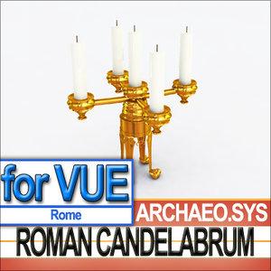 3d ancient roman candelabrum model