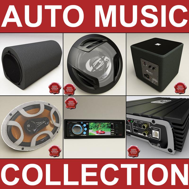 auto music 3d model