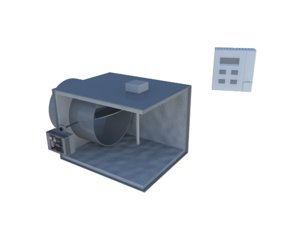 bypass damper thermostat vma 3d model