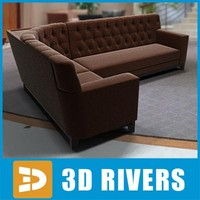 Corner sofa by 3DRivers