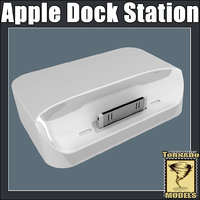 3d apple dock station model