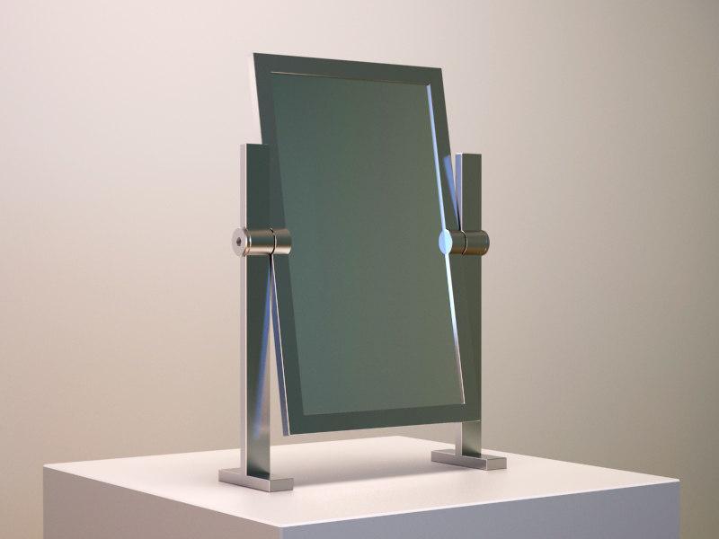 3d cool dressing mirror model