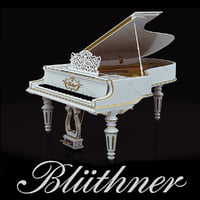 Grand Piano Bluthner White