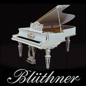 3ds max grand piano bluthner white