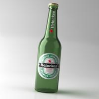 heineken beer bottle lid 3d max