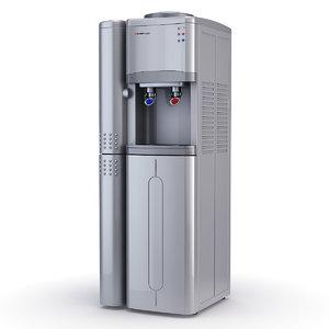 water cooler refrigerator hotfrost 3d model