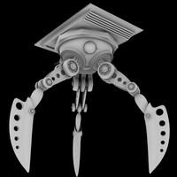 3d sci-fi robot leg