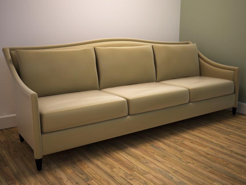 3ds max modern classic sofa