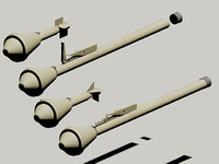 wwii german panzerfaust 60 3d model