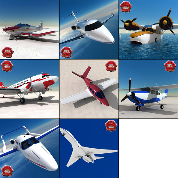 3d private aircraft v4 model
