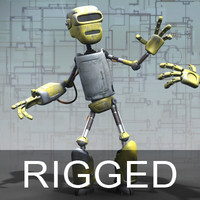 Robot Droid - Rigged