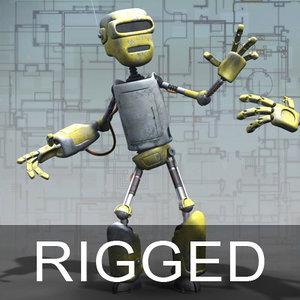 robot droid rig 3d model