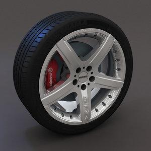 momo gtr rim tire 3d model