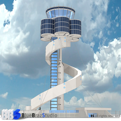 3d sydney airport control tower model