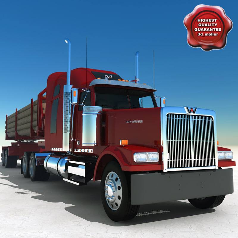 timber truck western-star 3d max
