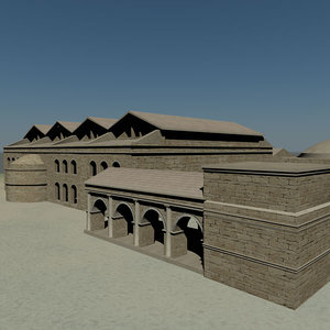 3ds max roman bath house