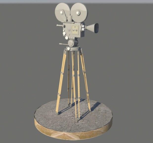 classic film camera 3d model