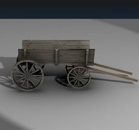 medieval coach 3d model