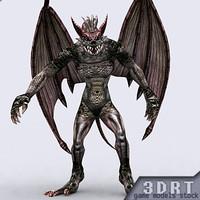 3DRT-Fantasy-Gargoyle-monster