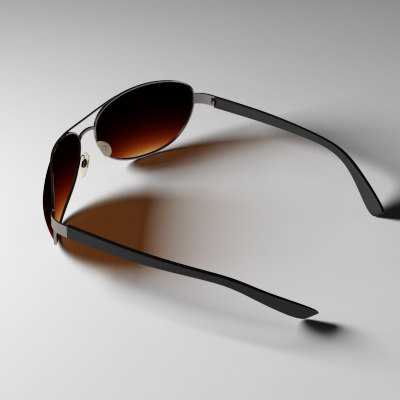 aviator sunglasses glass 3d model