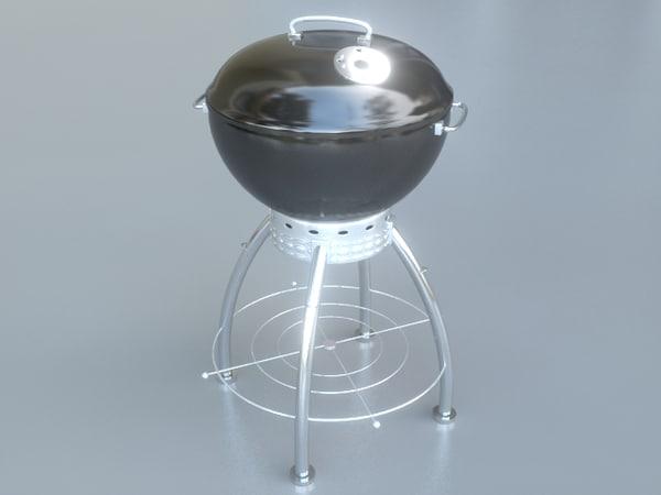 3d modern grill model
