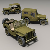 willys jeep 3d obj