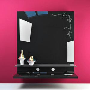 moda plasma tv panel 3d model