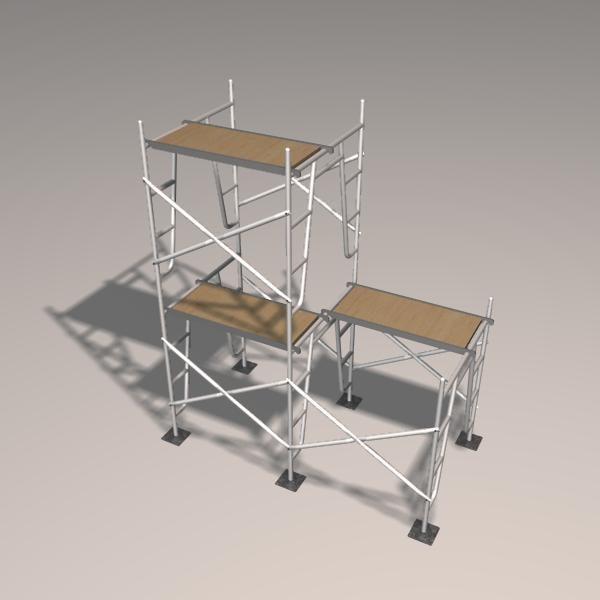 3d model scaffolding plank