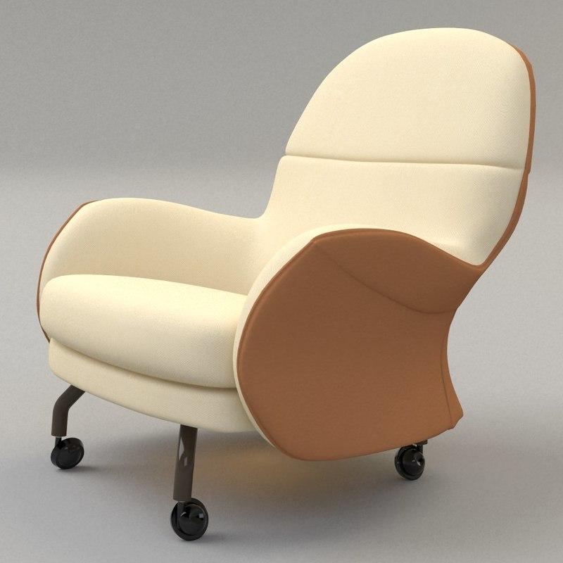 saddle armchair 3d model