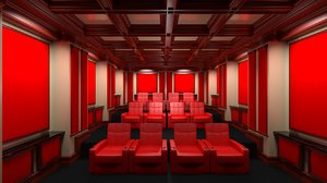 seat traditional home theater 3d 3ds
