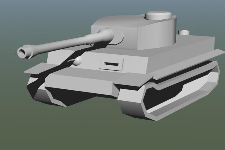 3ds max king tiger tank