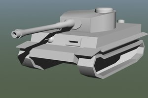 3ds max king tiger tank