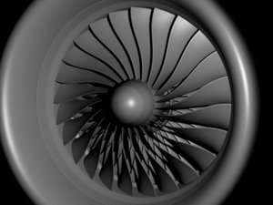 engine aircraft 3d model