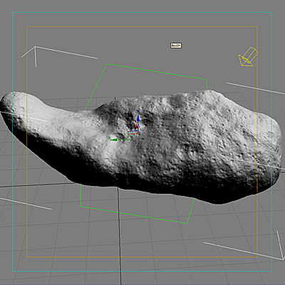 asteroid planet 3d model