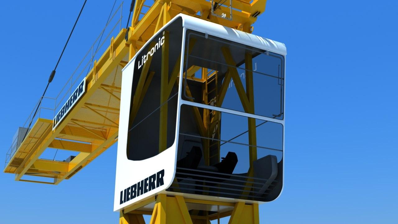 liebherr tower crane c4d